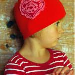 Trikotaažist õmmeldud müts ja mütsi lõige