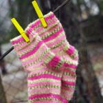 4 kootud sokki