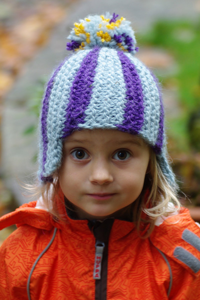 reflective pom-pom hat