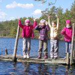 Lastega Kõnnu järve leidmas