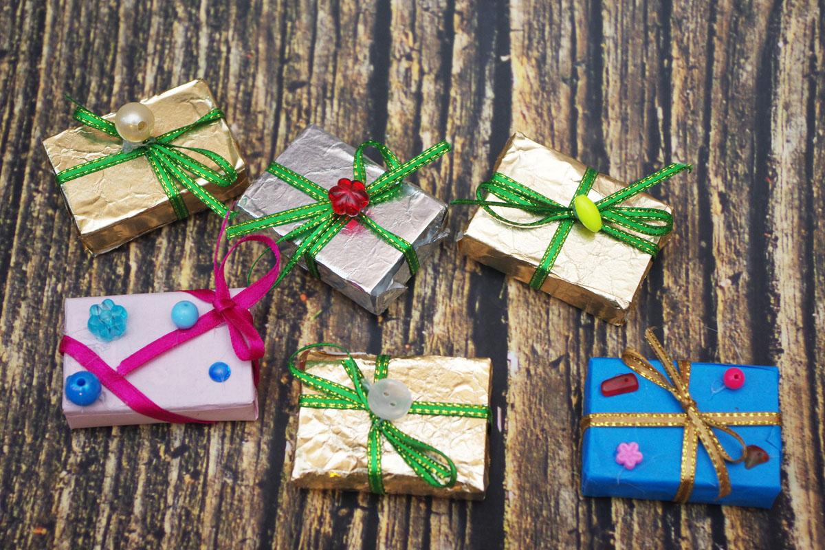meisterdusi jõuludeks tikutoosist kingipakk