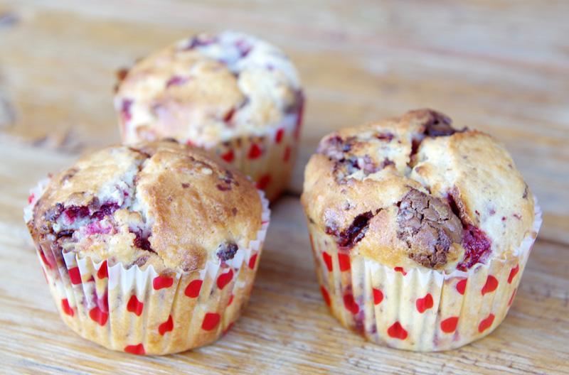 metsmaasika - šokolaadi muffin