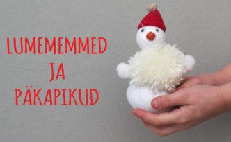 mida meisterdada jõuludeks, lumememmed ja päkapikud
