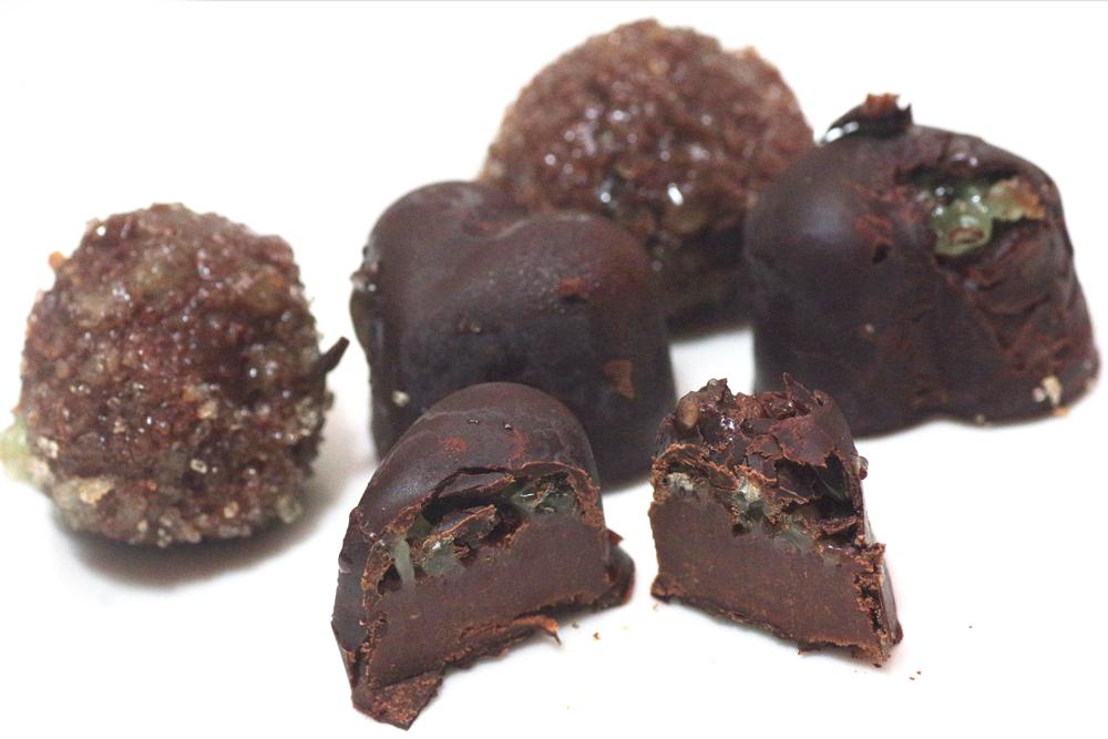 Piparmündi-šokolaadi trühvlid